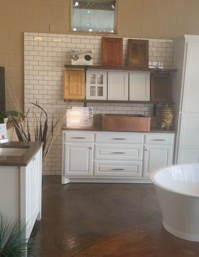 Pierponts bath and kitchen showroom cabinets